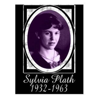 Sylvia Plath Tarjeta Postal