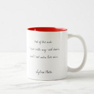 Sylvia Plath, taza manuscrita de la cita de