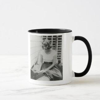 Sylvia Plath Typewriter Ringer Mug