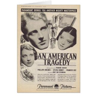 Sylvia Sidney un anuncio americano 1931 de la pelí Tarjeta De Felicitación