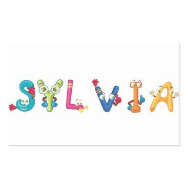 Beach Themed Sylvia Sticker