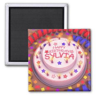 Sylvia's Birthday Cake Magnet