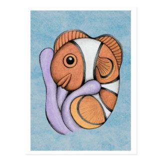 Symbiosis Baby Clownfish ArtCard Postcard