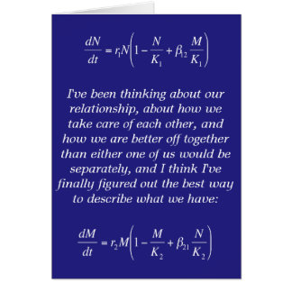 symbiotic relationship funny nerdy romantic card greeting card