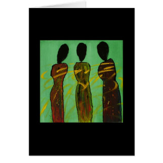 Symbiotic Sisters II - Blank Ethnic Art Card