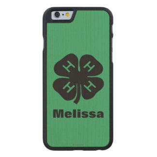 Symbol: 4-H Club Carved® Maple iPhone 6 Case