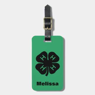 Symbol: 4-H Club Luggage Tag
