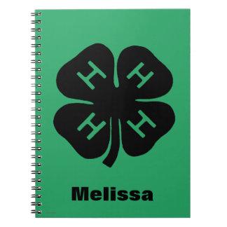 Symbol: 4-H Club Spiral Notebook