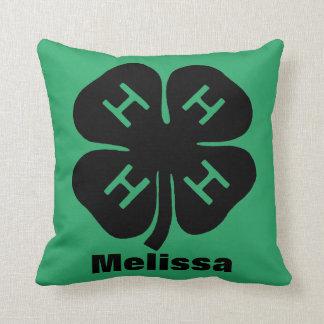 Symbol: 4-H Club Throw Pillow