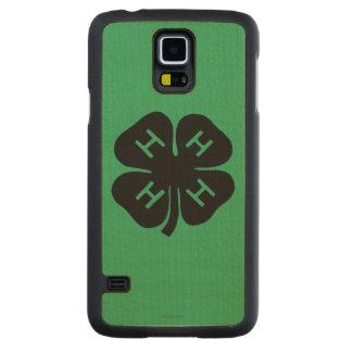 Symbol: 4-H Club Carved® Maple Galaxy S5 Slim Case