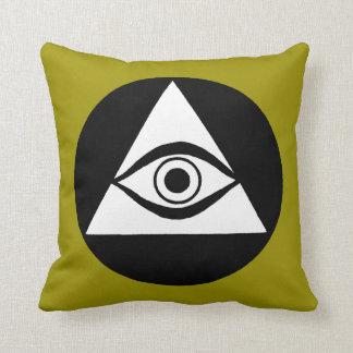 Symbol: All Seeing Eye Throw Pillows