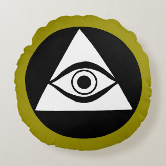 Symbol: All Seeing Eye Round Pillow