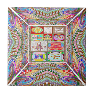 SYMBOL art : Compassion n Healing go together Ceramic Tiles