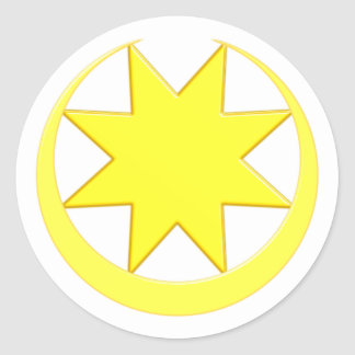 Symbol Astarte Ishtar Classic Round Sticker