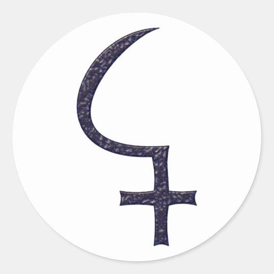 Symbol asteroid of cerium classic round sticker