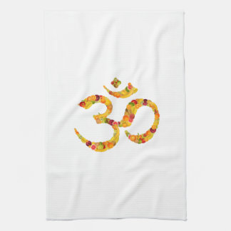 Symbol aum or ohms. ADD your own text! Hand Towel