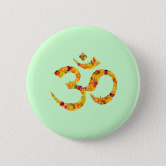 Symbol aum or ohms. ADD your own text! Pinback Button