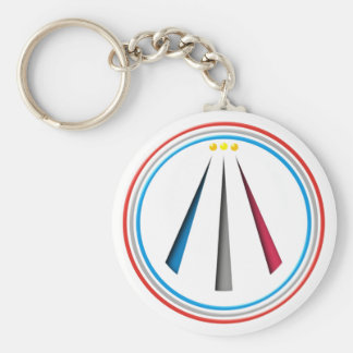 Symbol Awen neo druid bards Basic Round Button Keychain