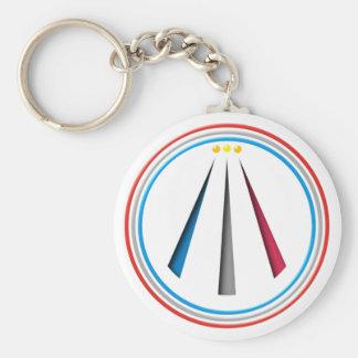 Symbol Awen neo druid bards Keychain