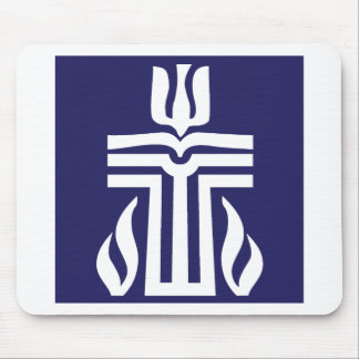 symbol-bluewhite mouse pad
