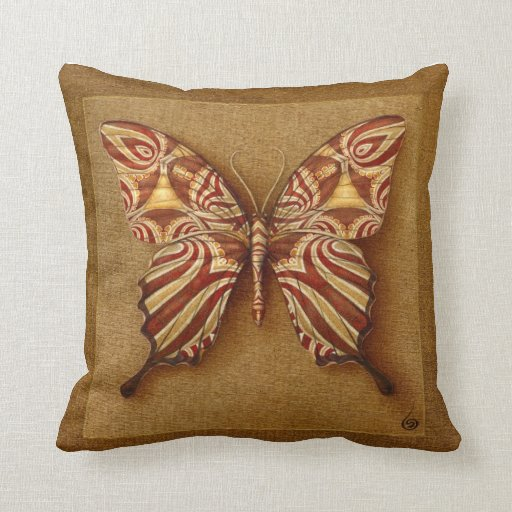 Throw Pillows With Butterfly : SYMBOL-BUTTERFLY THROW PILLOWS Zazzle
