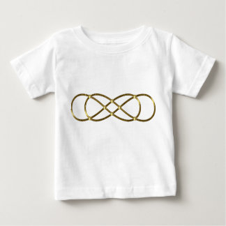 Symbol double Infinity - Antique Gold Baby T-Shirt