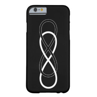 Symbol double Infinity - Black & White Barely There iPhone 6 Case