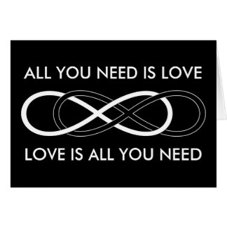 Symbol double Infinity - Black & White Greeting Card