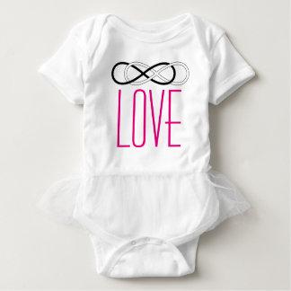 Symbol double Infinity - Black & White + love Baby Bodysuit