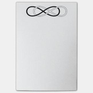 Symbol double Infinity - Black & White Post-it Notes