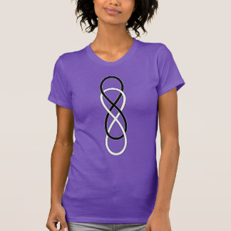 Symbol double Infinity - Black & White T-Shirt