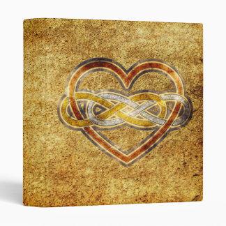 Symbol double Infinity Heart BiColor Binder