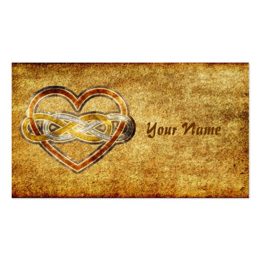 Symbol double Infinity Heart BiColor Business Card Templates
