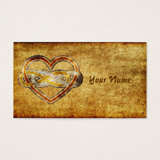 Symbol double Infinity Heart BiColor Business Card