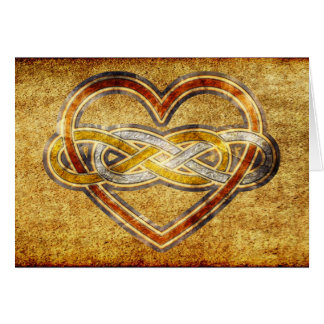 Symbol double Infinity Heart BiColor Greeting Card