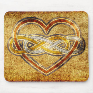 Symbol double Infinity Heart BiColor Mouse Pad