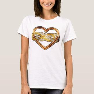 Symbol double Infinity Heart BiColor T-Shirt