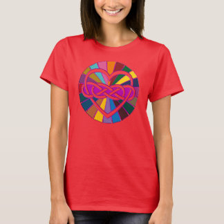 Symbol double Infinity Heart colorful shine T-Shirt