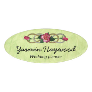 Symbol Double Infinity - Roses gold silver Name Tag
