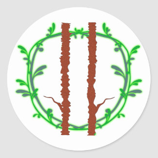 Symbol druid druids round sticker