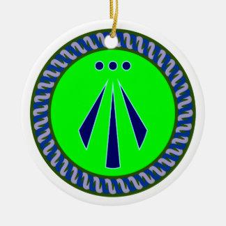 Symbol Druiden druids awen Ceramic Ornament