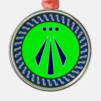 Symbol Druiden druids awen Metal Ornament