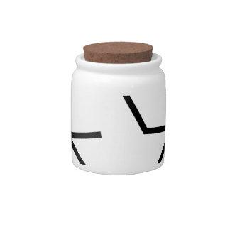 Symbol for ecological balance candy jars