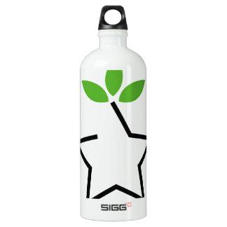 Symbol for ecological balance water bottle