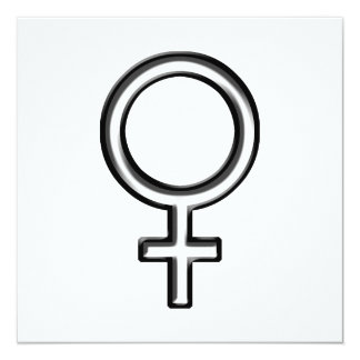 Symbol for Female Card