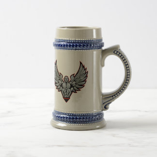 Symbol for gym and fitness beer stein