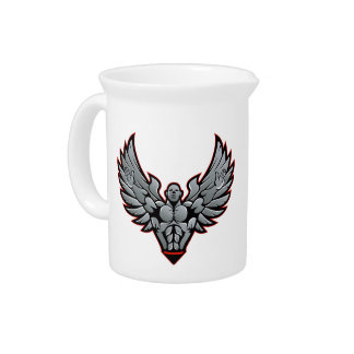Symbol for gym and fitness beverage pitcher