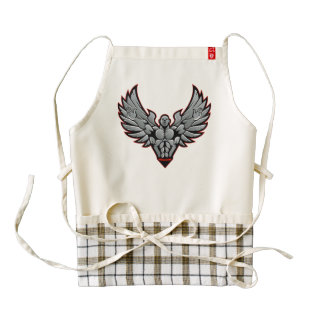 Symbol for gym and fitness zazzle HEART apron