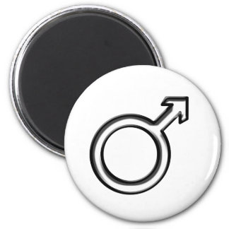 Symbol for Male 2 Inch Round Magnet