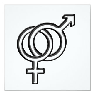 Symbol for Male and Female Card